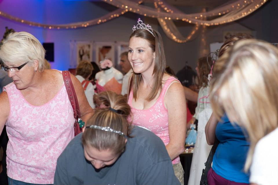 Brides get to wear tiaras during the show as they interact with businesses to find the best fit for their wedding day! Photo courtesy of H-R Photography.