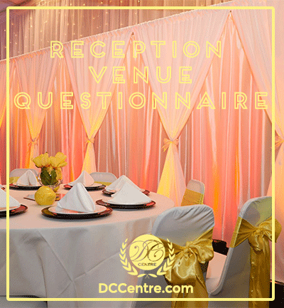 Reception venue questionnaire what to ask dc centre reception venue questionnaire what to ask junglespirit Images