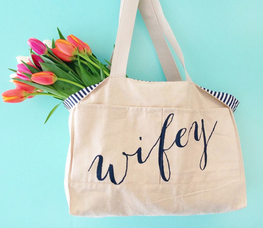 Wifey Stripe Canvas Tote Giveaway