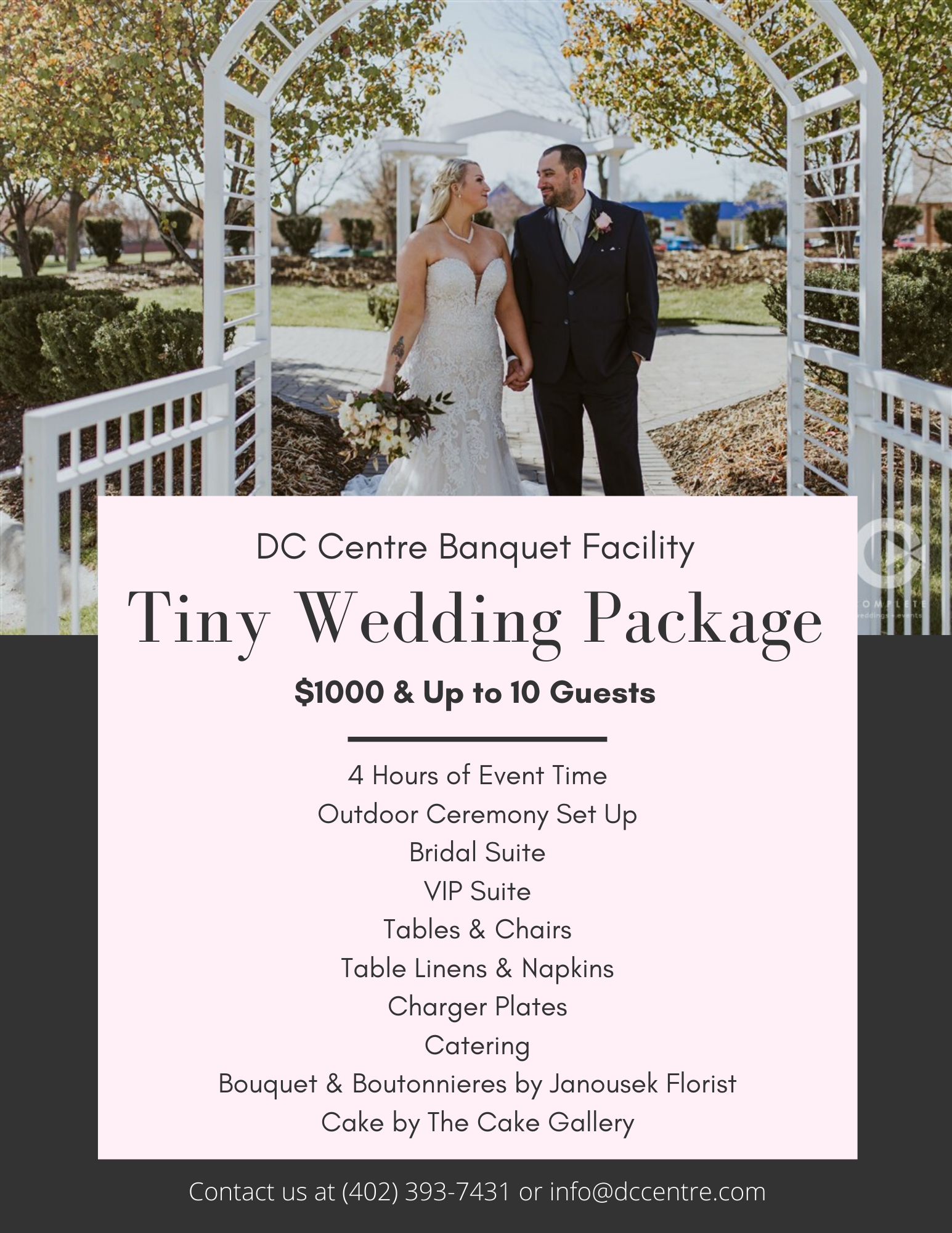 Tiny Wedding Package at DC Centre