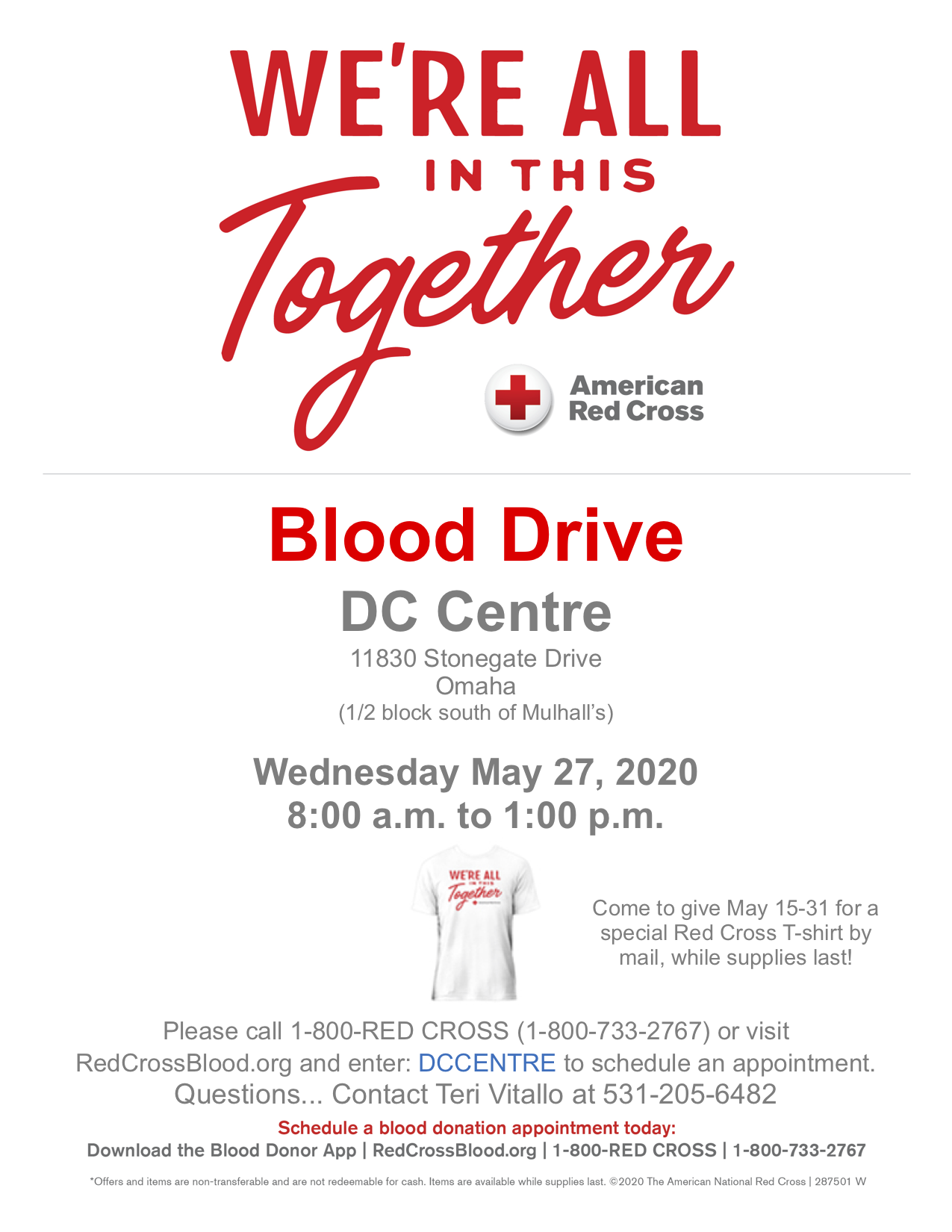 Blood Drive at DC Centre Banquet Facility